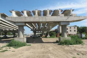 Строительство сьездов с Кайдацкого моста