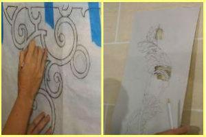 Перенос контуров рисунка фрески