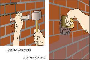 Подготовка кирпичных стен под плитку