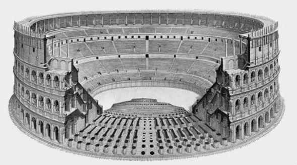Архитектурно-конструктивное решение колизея древнего Рима