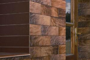 Фасад из керамического камня