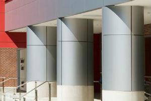 Облицовка колонн композитными панелями