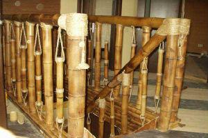 Поручни из бамбука