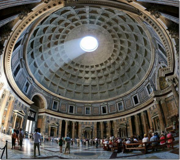 Світло оптичні ефекти Пантеону стародавнього Риму