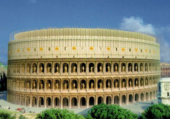 Художественное решение Колизея древнего Рима