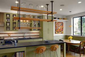 Зоны кухни в стиле кафе