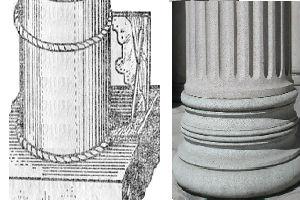 Декоративное оформление колонн базами