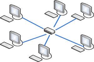 Монтаж локальных компьютерных сетей топологией звезда