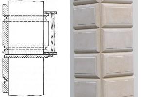 Декоративное оформление колонн рустованием