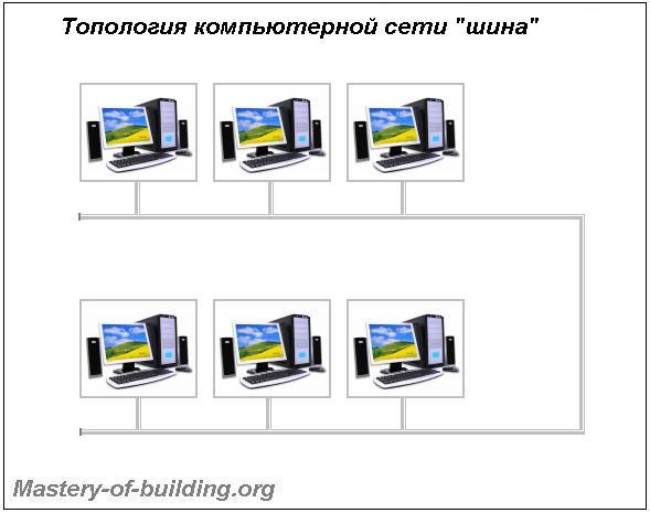 Топология локальных компьютерных сетей шина