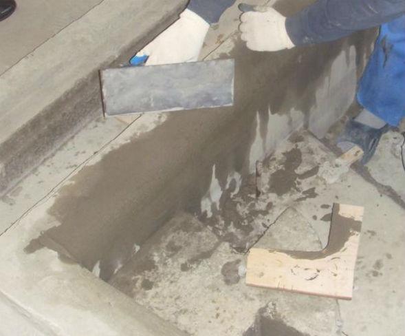 штукатурка чаши бетонной ванны