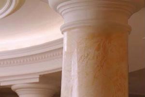 Оформление колонн декоративными накрывками