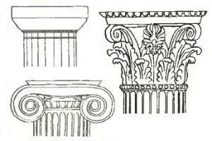 Декоративное оформление колонн капителями