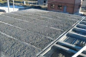 Балочное монолитное перекрытие промышленных зданий с двутавровыми балками