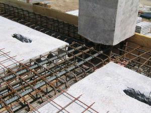 Устройство сборно-монолитных межэтажных перекрытий промышленных зданий