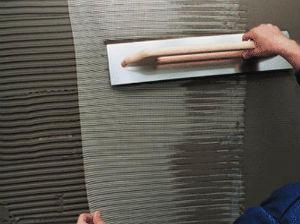 Оклейка стеклосеткой фасада