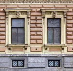 Рустованная штукатурка фасада