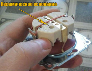 Основание розетки, диэлектрический элемент розетки