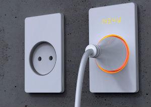 Розетка со встроенным счетчиком электричества