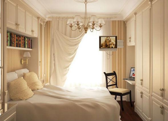 Мебель и шторы для визуального увеличения комнаты