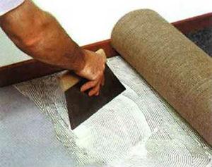 Укладка коврового покрытия на клей