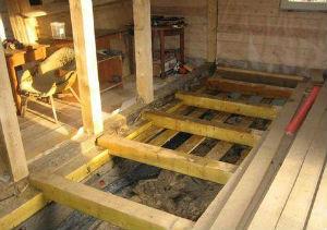 Деревянное перекрытие первого этажа