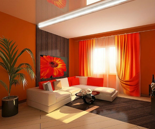 Оранжевый интерьер и его влияние на человека