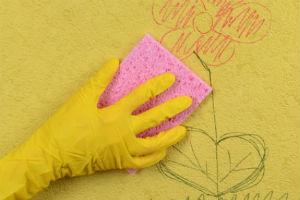 Готовим чистящее средство и удаляем загрязнения с моющихся обоев