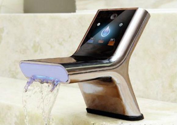 Принцип смешивания воды электронного контактного смесителя