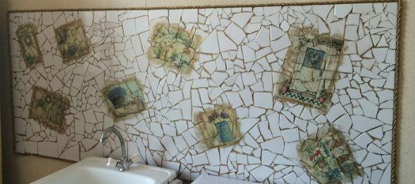 Приемы декорирования старой плитки