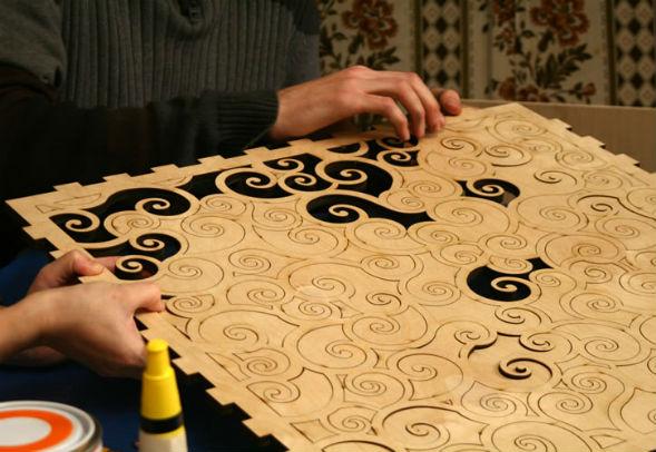 Шаблоны и трафареты, инструменты для имитации сграффито