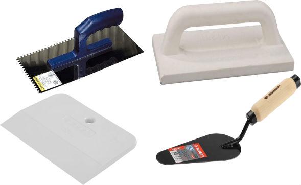 Инструменты для нанесения и разравнивания многоцветной штукатурки сграффито