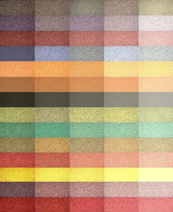 Палитра современных цветных цементов, которые могут быть использованы для терраццо