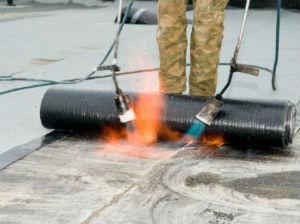 Термический способ укладки рулонной гидроизоляции