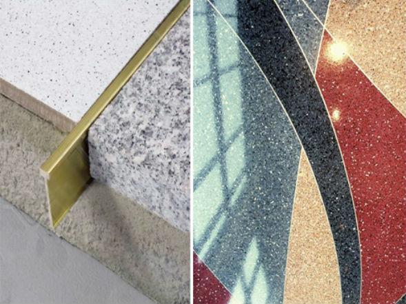 устройство жилок и маяков в бетонном мозаичном полу терраццо