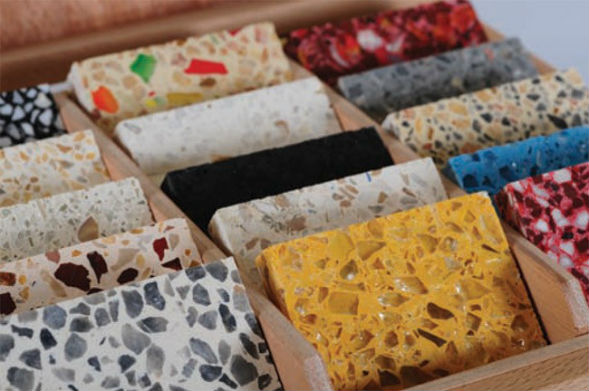 Виды декоративного бетона терраццо с мраморной крошкой