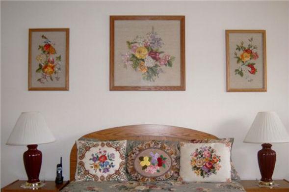 Вышивка как способ декора предметов и интерьера