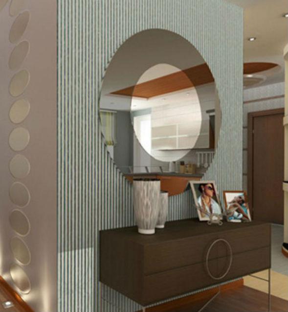 Зеркало с обрамлением в стиле хай-тек