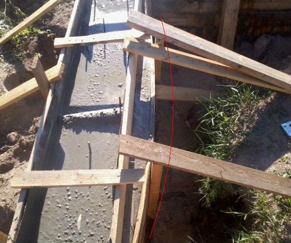 разрыв опалубки при бетонировании монолитного фундамента