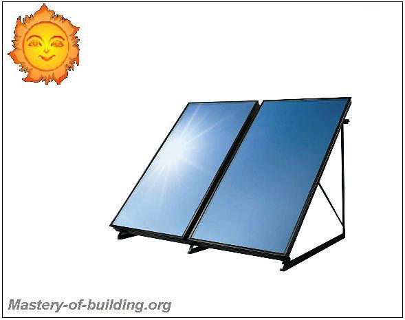 Обогрев дома зимой с помощью солнечных коллекторов