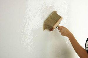 Подготовка поверхности под облицовку гипсовой плиткой грунтованием