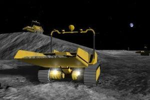 Прототип робота по строительству взлетно-посадочных инопланетных площадок