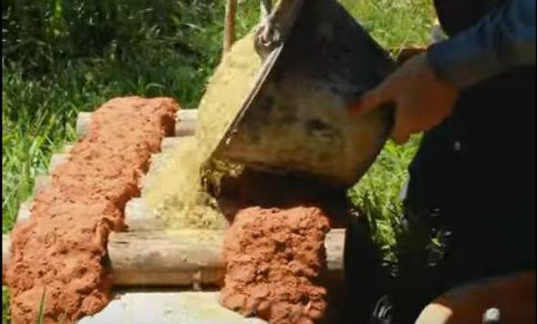 Утепление кладки дров cordwood глиночурка