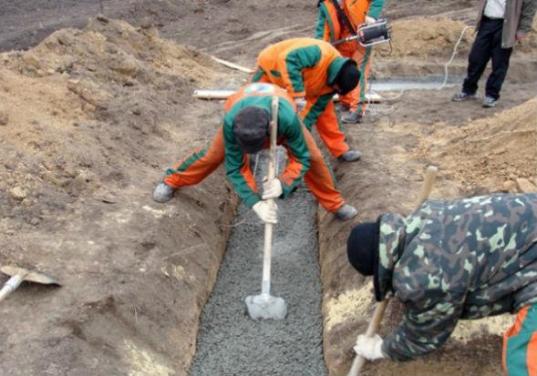 Организация работ, состав бригады по заливке фундамента