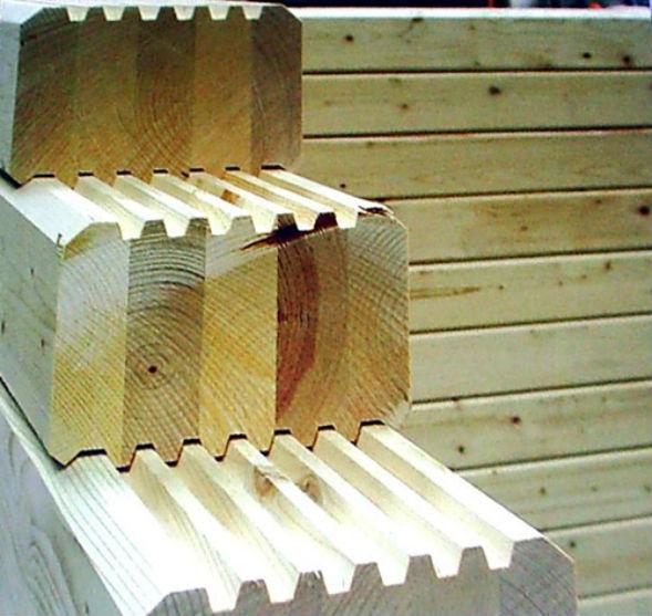 профільований клеєний брус для будівництва будинку зі зрубу