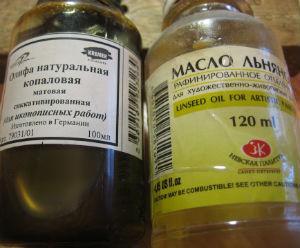 В'яжуче для традиційних олійних фарб