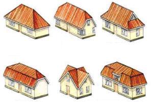 Виды и особенности устройства кровельных покрытий на различных видах крыш
