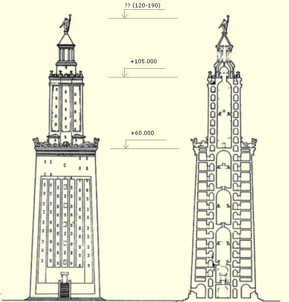 План, фронт фаросского александрийского маяка