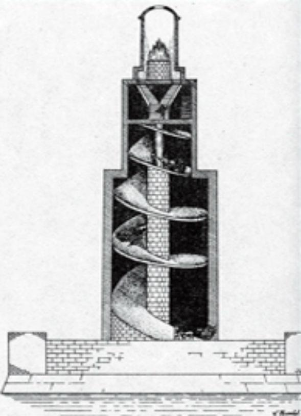 Разрез Александрийского маяка