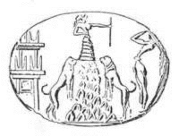 Критская печеть с изображением Владытчицы Зверей
